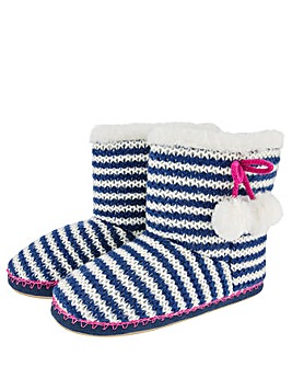 Accessorize Nautical Stripe Knitted Boot