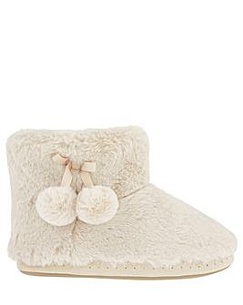 Fluffy Pom-Pom Slipper Boots