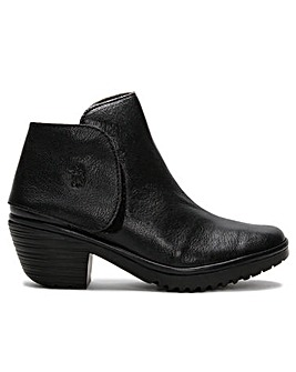 Fly London Wogi 131 Leather Block Heel Ankle Boots