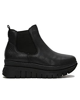 Fly London Besi Leather Chunky Chelsea Boots