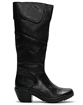 Fly London Wule 132 Leather Knee Boots Standard Fit