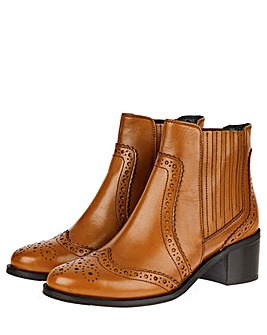 Monsoon Brogue Leather Boot