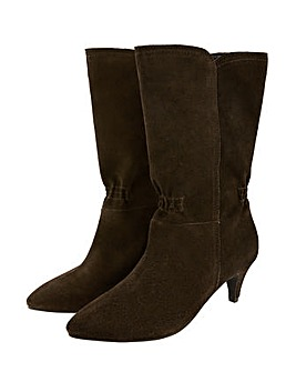 Monsoon SUEDE MID CALF ROUCH BOOT