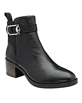 Lotus Tawny Croc Leather Boots Standard D Fit