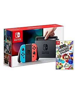 Nintendo Switch Neon Super Mario Party