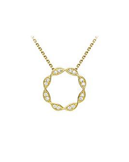 9 Carat Gold Twist-Circle Necklace