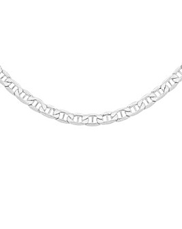 Gents Sterling Silver Flat Rambo Chain