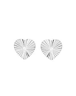 Sterling Silver CZ Heart Earrings