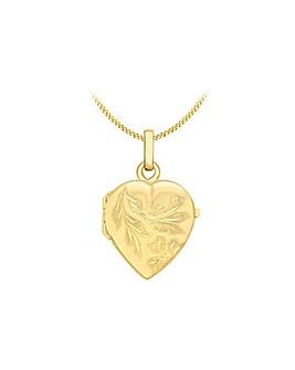 9 Carat Gold Heart Locket Pendant