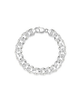 Gents Sterling Silver Curb Bracelet
