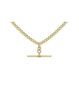 9 Carat Gold T-Bar Curb Albert Necklace