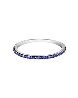 9 Carat White Gold Blue Sapphire Ring