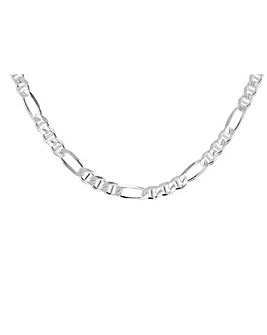 Gents Sterling Silver Figaro Rambo Chain