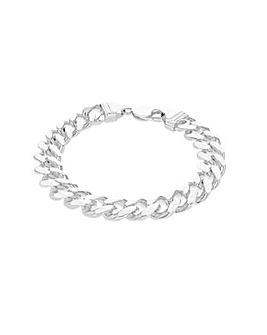 Gents Sterling Silver Flat Curb Bracelet
