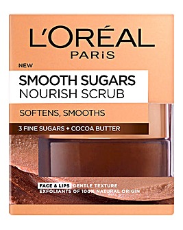 L'Oreal Paris Smooth Sugar Nourish Face & Lip Scrub