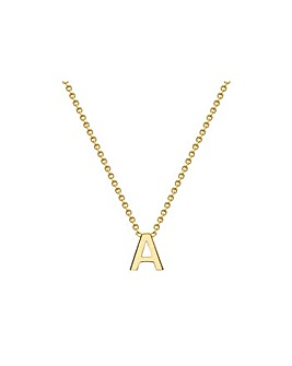 9 Carat Gold A-Z Initial Necklace