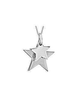 Steling Silver Doubel Star Pendant