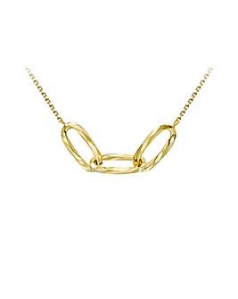 9 Carat Gold Linked-Ovals Necklace