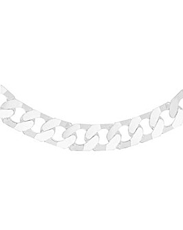 Sterling Silver Square Link Curb Chain