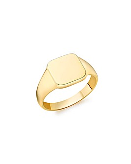 9 Carat Gold Square Signet Ring