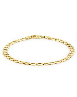 9 Carat Gold Flat Curb Bracelet