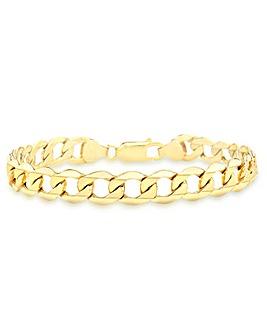 9 Carat Gold 6-Sided Curb Bracelet