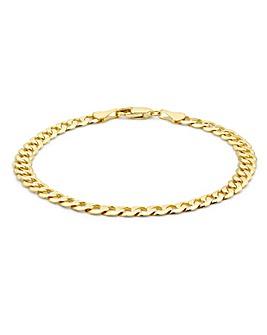 9 Carat Gold Diamond Cut Curb Bracelet