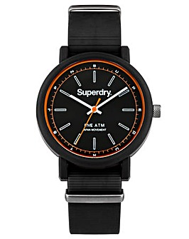 Gents Superdry Round Dial Strap Watch
