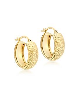 9Ct Gold Pattern Huggie Earring