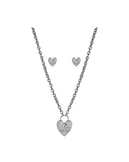 Lipsy Silver Chain Necklace & Earrings