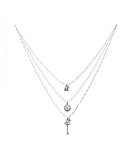 Layered 3 Pack Silver Chain