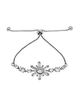 Cubic Zirconia Star Baguette Bracelet