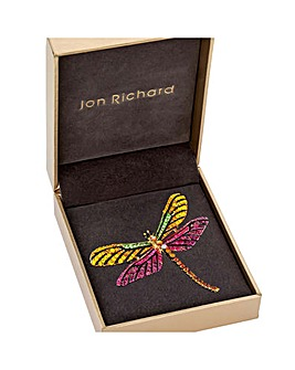 Coloured Dragon Fly Brooch - Gift Boxed