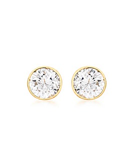 9Ct Gold Round Stud Earring