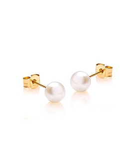 9Ct Gold Fresh Water Pearl Stud