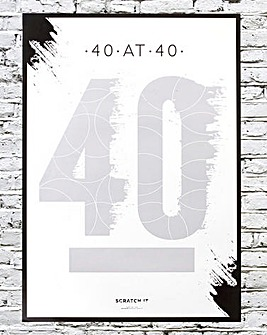40 at 40 Scratch Poster