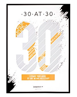 30 at 30 Scratch Poster