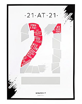 21 at 21 Scratch Poster