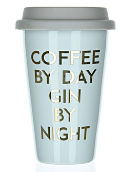 Coffee by Day Gin By Night Travel Mug
