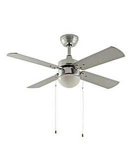 Ceiling Fan - Chrome & Grey