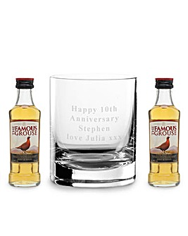 Personalised Famous Grouse Glass & Minis