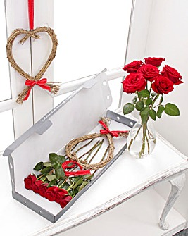 Valentines Letterbox Heart Wreath