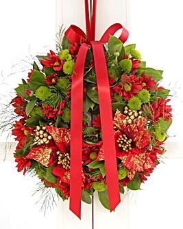 Poinsettia Door Wreath