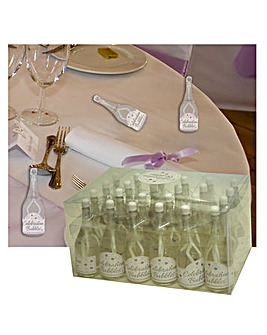 Bubbles Favors Clear Bottle White Wand