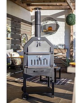 La Hacienda Lorenzo Steel Pizza Oven/Smoker