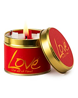 Lily-Flame Love Candle Tin