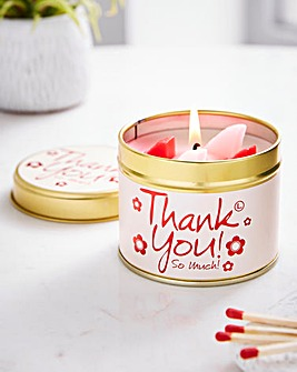 Lily-Flame Thank You Candle Tin
