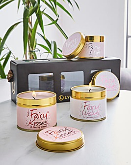 Lily-Flame Fairy Mini Tins Candle Gift Set