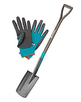 Gardena Natureline Spade with Free Gloves