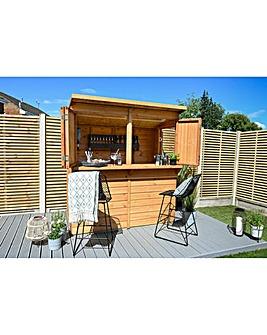 Forest Shiplap Dip Pent 6x3 Garden Bar